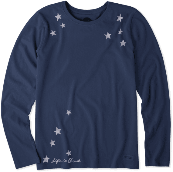 Women's Star Gazing Long Sleeve Crusher Tee