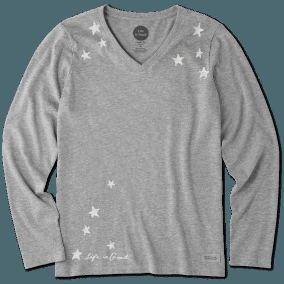 Women's Star Gazing Long Sleeve Crusher Vee