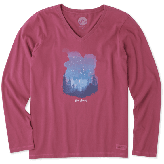 Women's Star Struck Long Sleeve Crusher Vee