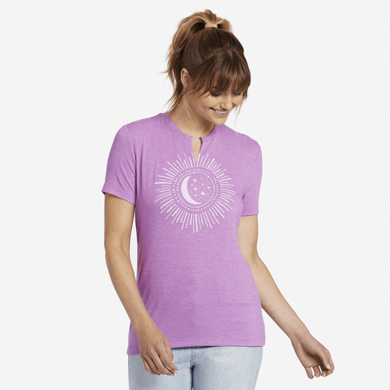 Women's Starry Light Favorite Split Neck Tee