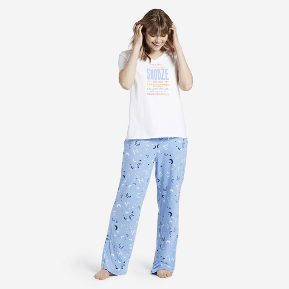 Women's Starry Moon Sky Snuggle Up Sleep Pant