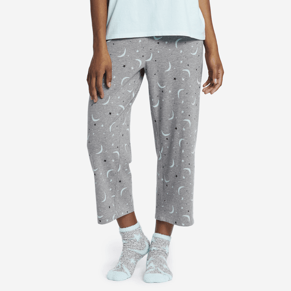 f9d815bc1b Women s Starry Moons Cropped Sleep Pants ...