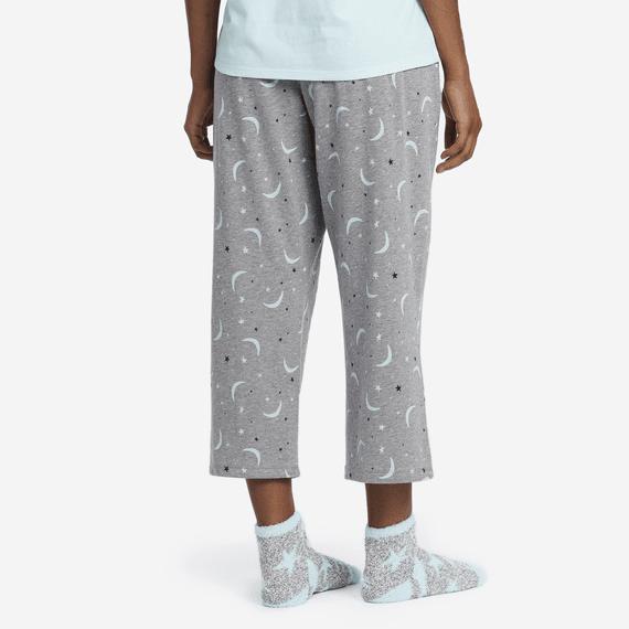 Women's Starry Moons Cropped Sleep Pants