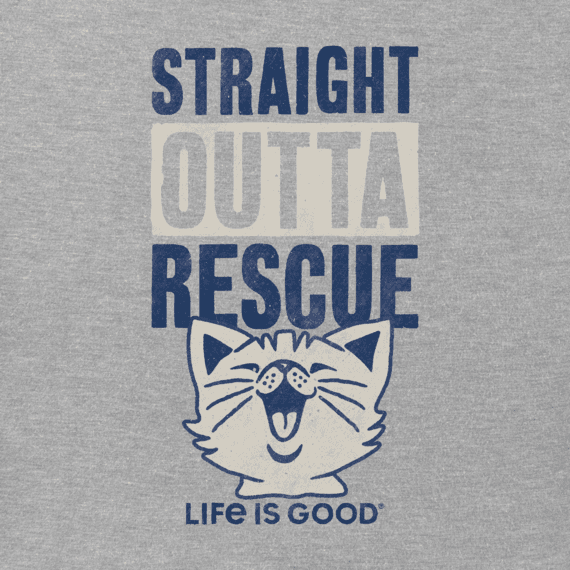 Women's Straight Outta Rescue Cat Crusher Tee