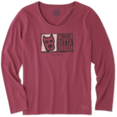 Women's Straight Outta Rescue Long Sleeve Crusher Scoop