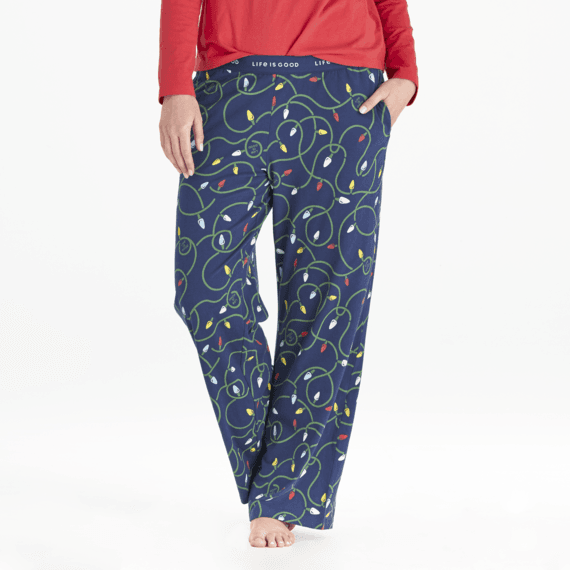Women's String Lights Snuggle Up Sleep Pant
