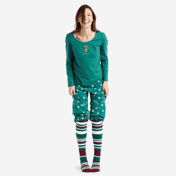 Women's Stripes Fun Snuggle Sock