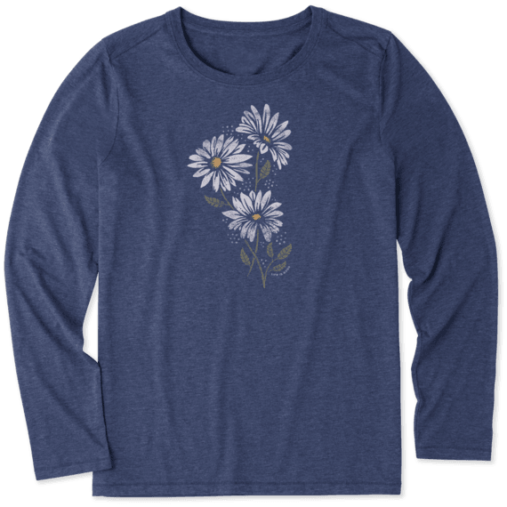 Women's Strong Daisies Long Sleeve Cool Tee