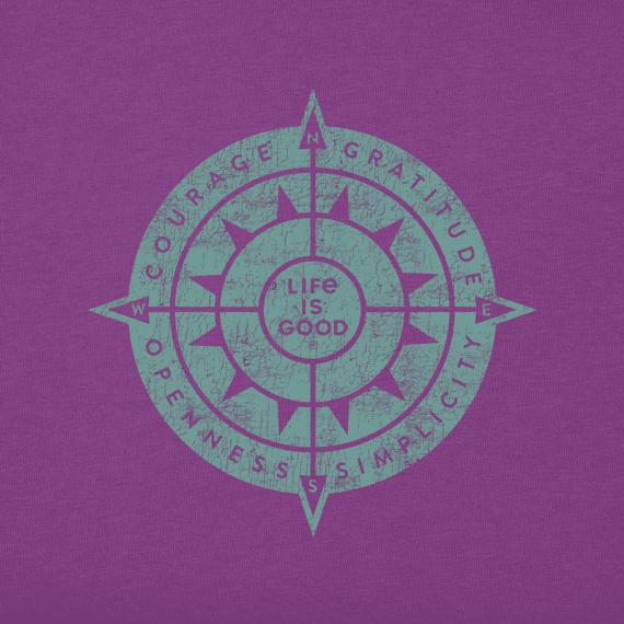 Women's Sun Compass Long Sleeve Crusher Vee