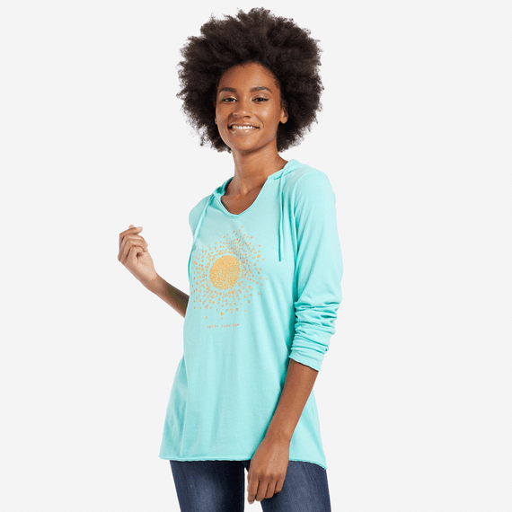 Women's Sun Love Hooded Smooth Tee