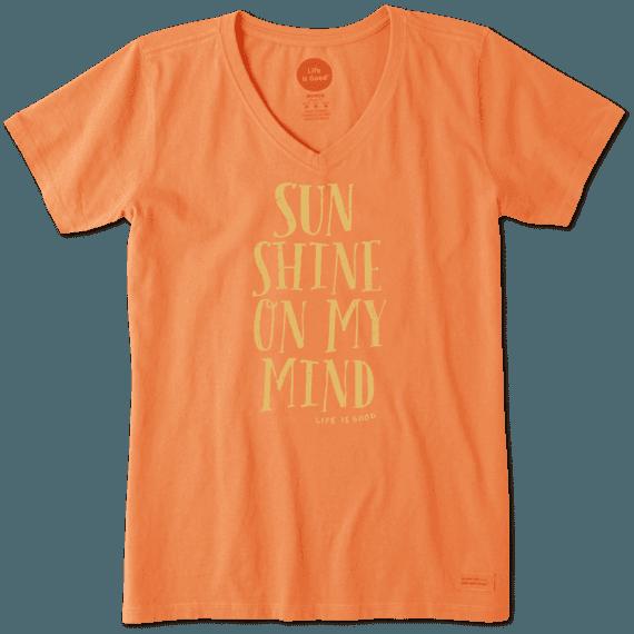 Women's Sun Shine On My Mind Crusher Vee