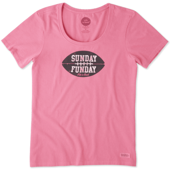 Women's Sunday Funday Crusher Scoop Neck Tee