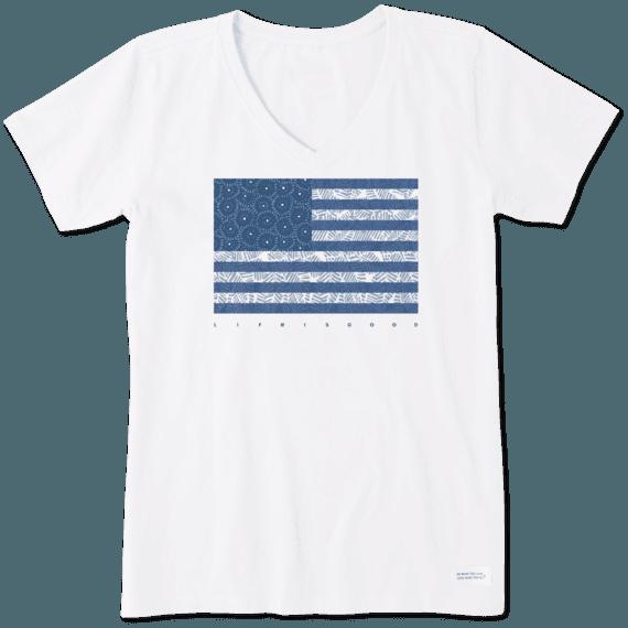Women's Sunflower Flag Crusher Vee