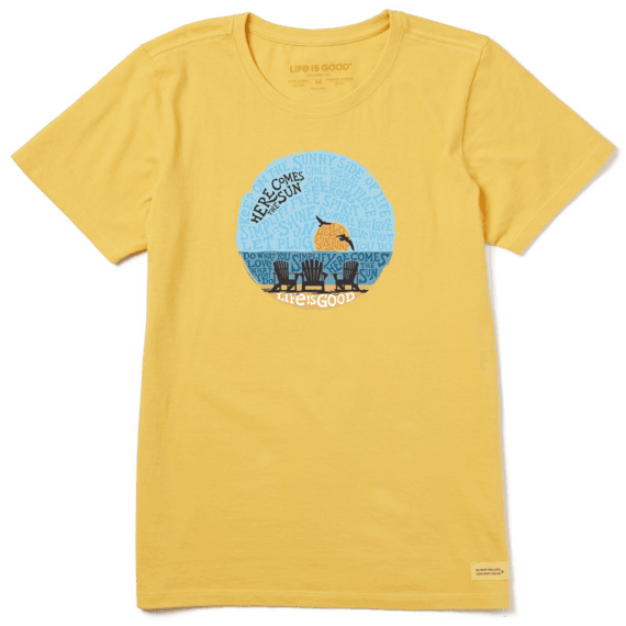 Women's Sunset Chairs Crusher Tee