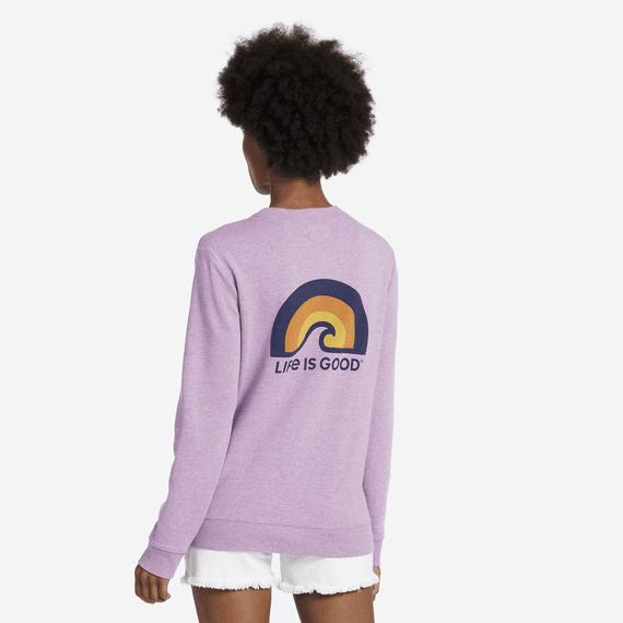 Women's Sunset Wave Simply True Crew