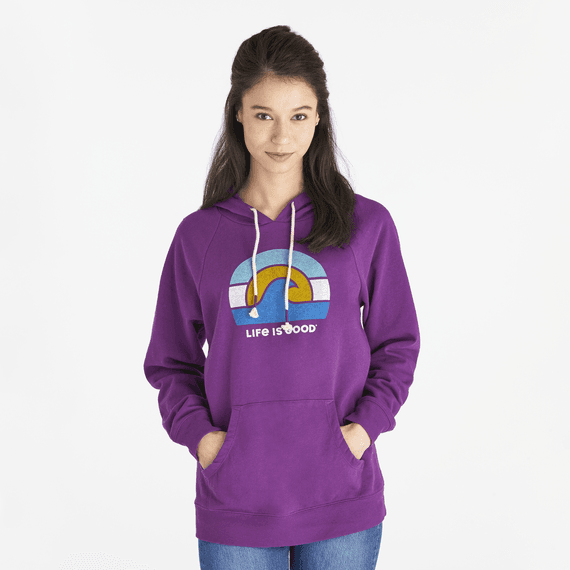 Women's Sunset Wave Simply True Hoodie