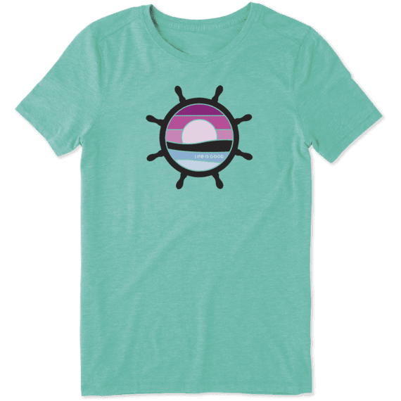 Women's Sunset Wheel Cool Tee