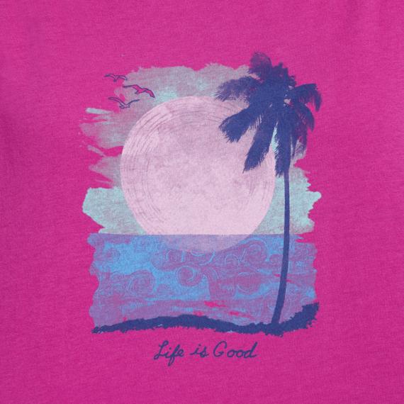 Women's Sunset in Paradise Breezy Tee