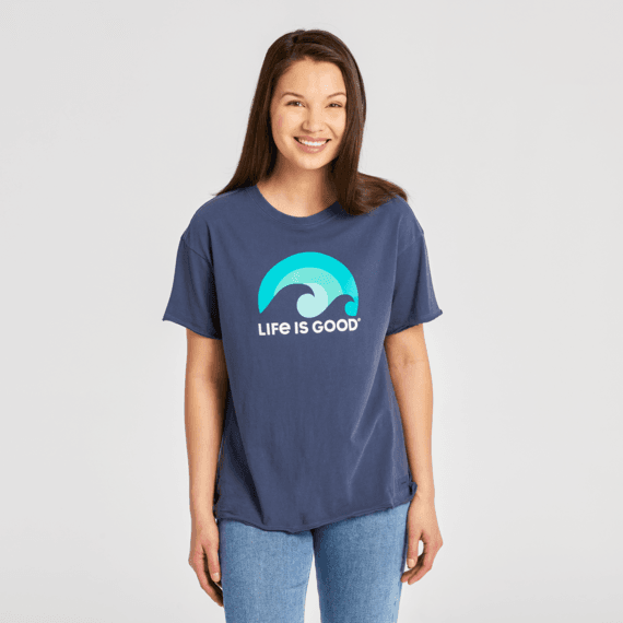 Women's Sunshine & Waves Boyfriend Crusher Tee