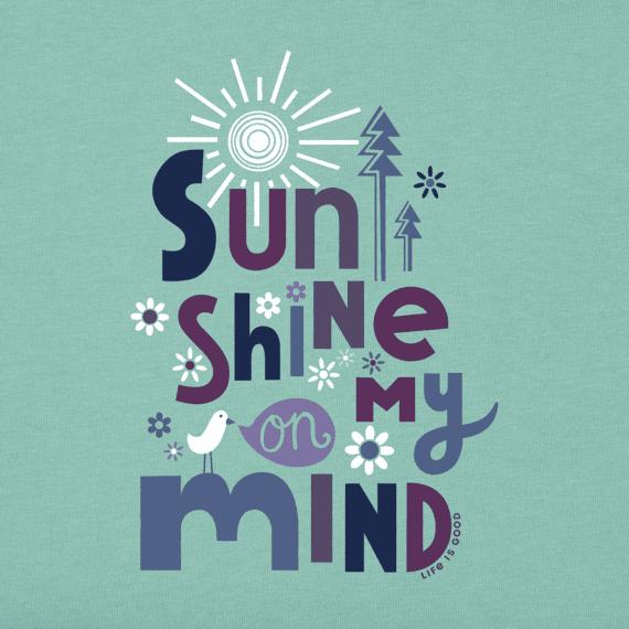 Women's Sunshine On My Mind Long Sleeve Crusher Tee