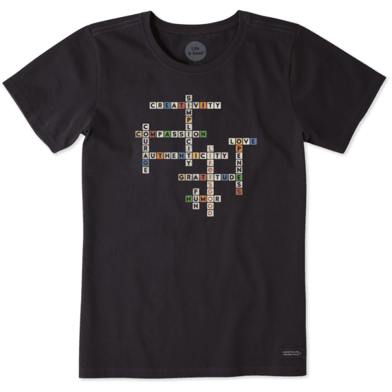 ea23862fa Women's Superpower Crossword Crusher Tee