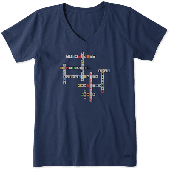 Women's Superpower Crossword Crusher Vee