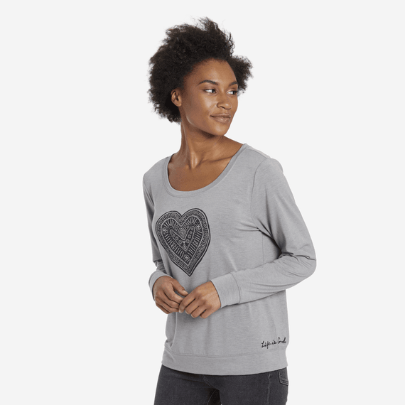 Women's Supreme Heart LIG Supreme Scoop Pullover