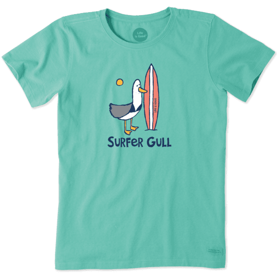 Women's Surfer Gull Crusher Tee Life is Good® officiell webbplats  Life is Good® Official Site