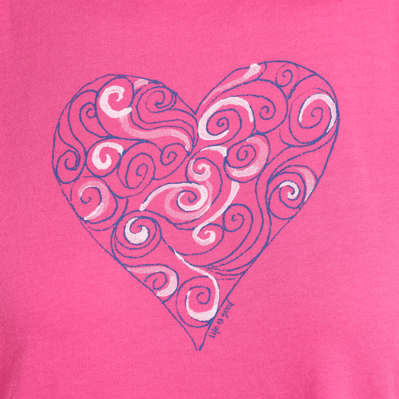 Women's Swirly Heart Smooth Tank