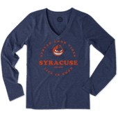 Women's Syracuse Good Vibes Long Sleeve Cool Vee
