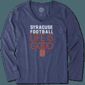 Women's Syracuse Infinity Football Long Sleeve Cool Vee