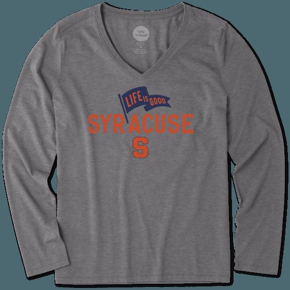 Women's Syracuse Pennant Long Sleeve Cool Vee