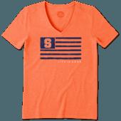 Women's Syracuse Team Flag Cool Vee
