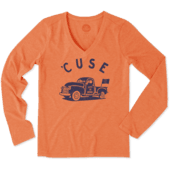 Women's Syracuse Vintage Truck Long Sleeve Cool Vee