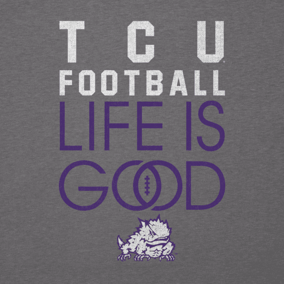 Women's TCU Horned Frogs Infinity Football Long Sleeve Cool Vee