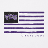 Women's TCU Horned Frogs Team Flag Cool Vee
