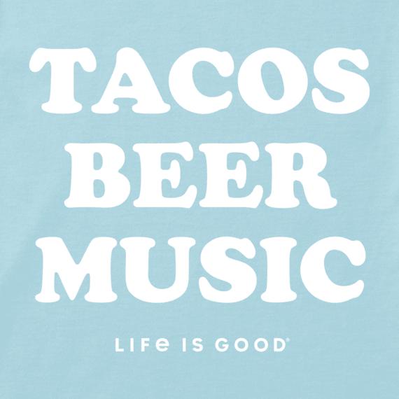 Women's Tacos, Beer, Music Cool Tee