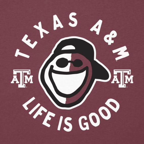Women's Texas A&M Face Paint Jake Long Sleeve Cool Vee