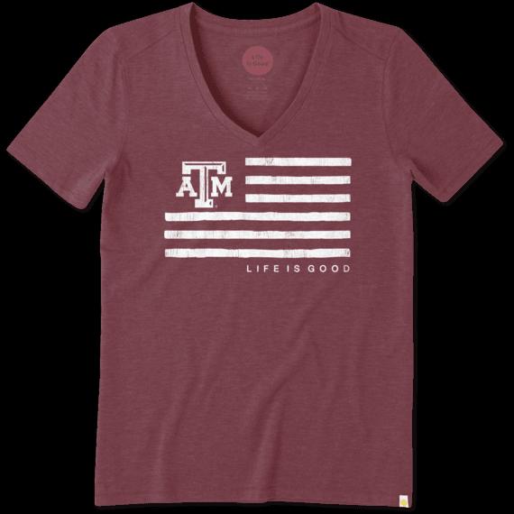 Women's Texas A&M Flag Cool Vee
