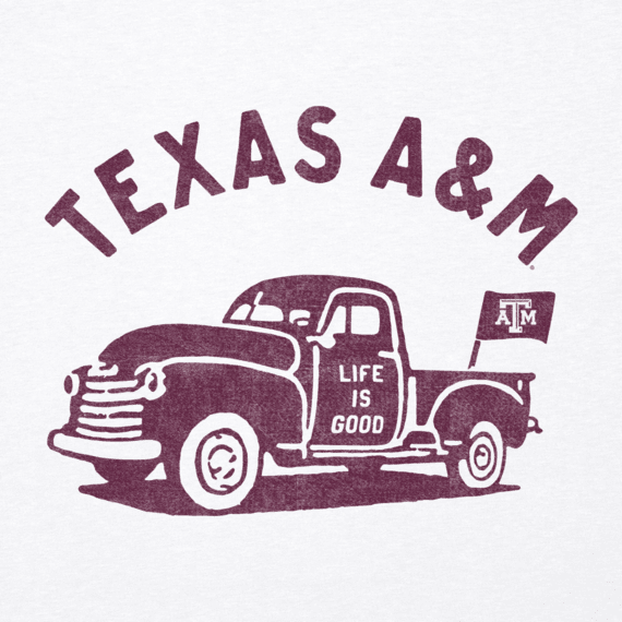 Women's Texas A&M Vintage Truck Long Sleeve Cool Vee