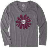 Women's Texas A&M Aggies Daisy Long Sleeve Cool Vee