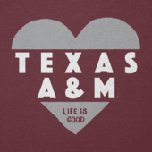 Women's Texas A&M Aggies Heart Knockout Cool Vee