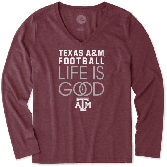 Women's Texas A&M Aggies Infinity Football Long Sleeve Cool Vee