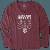 Women's Texas A&M Aggies Infinity Football Long Sleeve Cool Vee