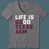 Women's Texas A&M Aggies LIG Go Team Cool Vee