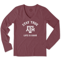 Women's Texas A&M Aggies Stay True Long Sleeve Cool Vee