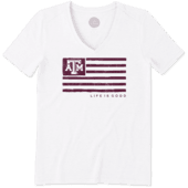 Women's Texas A&M Aggies Team Flag Cool Vee