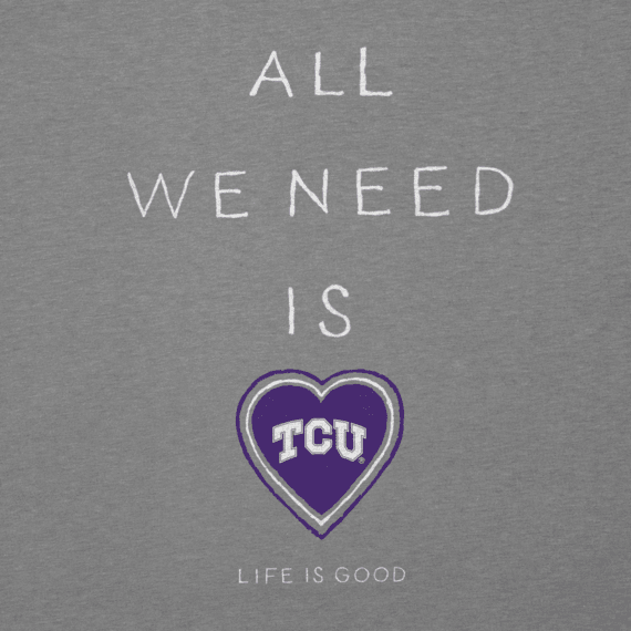 Women's Texas Christian Horned Frogs All We Need Heart Cool Vee