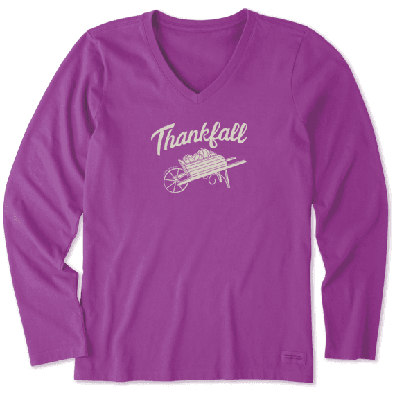 Women's Thankfall Long Sleeve Crusher Vee