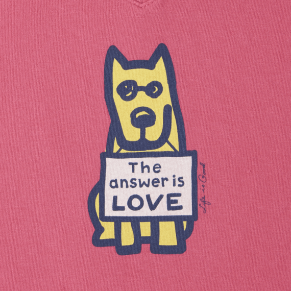 Women's The Answer Is Love Crusher Vee